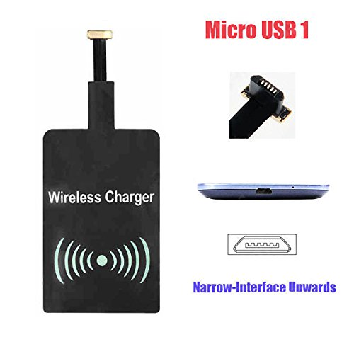 Android Wadjet Qi Wireless Charging Receiver Ultra Slim Micro USB Universal QI Wireless Charger Receiver For Android (USB Type 1)