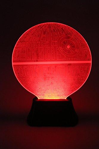 Star Wars 3D Illusion Platform Night Lighting led 7 Color Change Decor desk table lamp Lighting (Red, Green, Blue, Yellow, Cyan, Pink, White) (Cyan Lighting)