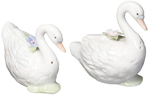 CG 96137 Swans Swimming with Flowers and Lilly - Salt Swan