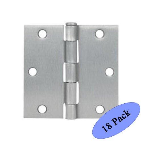 Nickel Square Corner (Cosmas Satin Nickel Door Hinge 3.5