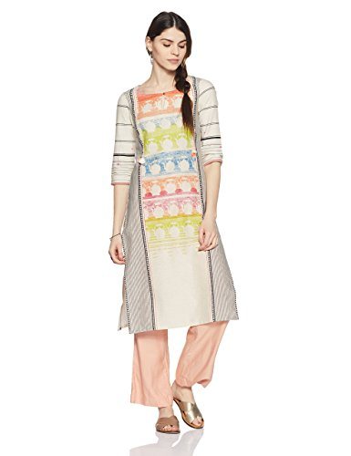 W for Woman Cotton Printed Kurta for Ladies