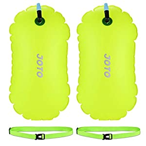 JOTO [2 Pack] Swim Buoy Float, Swimming Bubble Safety Float with Adjustable Waist Belt for Open Water Swimming, Safe…