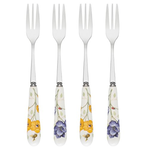 Lenox 865708 Butterfly Meadow Cocktail Forks (Set of 4), Multicolor - Cocktail Fork