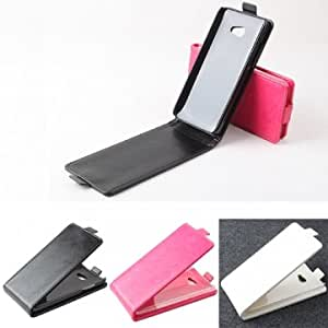 Magnetic Flip-open PU Leather Case For HTC Butterfly S 9060 901e --- Color:White