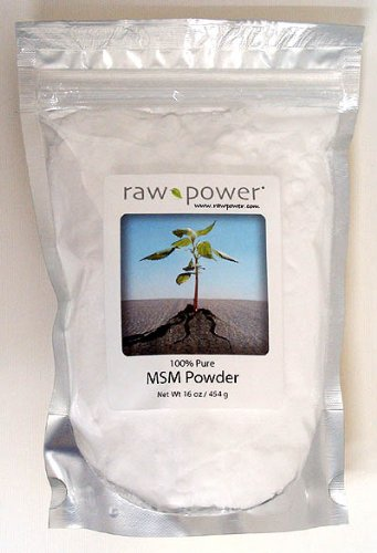 MSM Powder, 100% pure, Raw Power (16 oz, made in the USA)