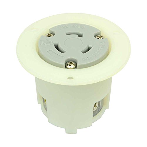 (Superior Electric YGF036F Twist Lock Flange Receptacle 3 Wire, 20 Amps, 125V, NEMA L5-20R)