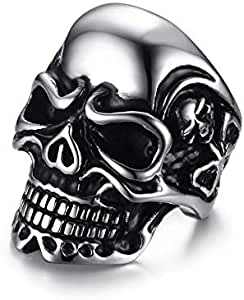 Men silver ring on a skull-shaped Size 10