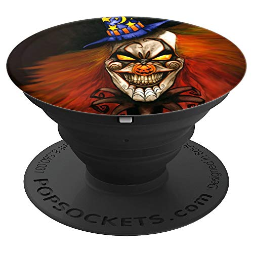 Halloween Scary Clown Creepy Spooky Fright Circus paint - PopSockets Grip and Stand for Phones and Tablets -