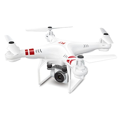X52 Quadcopter Drone with HD Camera RTF GPS 4 Channel 2.4GHz 6-Gyro with Altitude Hold Function,Headless Mode and One Key Return Home (White)