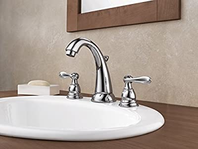 Delta Faucet Windemere 2-Handle Widespread Bathroom Faucet with Metal Drain Assembly