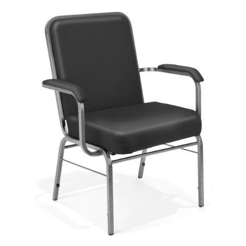 - OFM Big and Tall Comfort Class Series Anti-Microbial/Anti-Bacterial Vinyl Arm Chair, Black