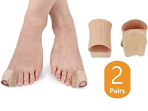 Nico Protector Sleeve Tube with Big Toe Gel Spacers Cushion for Bunion, Bunion Pain Relief 4 Pack