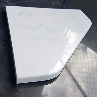 "8"" Marble Shower Corner Shelf - Soap Dish (Dolomite White XD) Premium Natural Stone Bathroom Caddy - Bath Shampoo Holder"