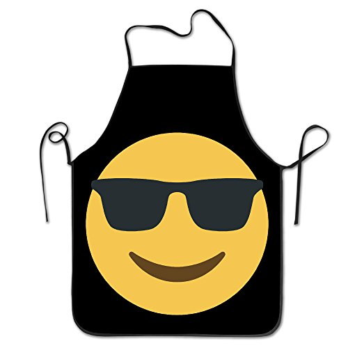 Unisex Emoji Sunglasses Cool Kitchen Cooking Grilling Apron Neck Straps Without Pockets - Book Of Sunglasses The Eli