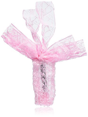 eDealMax Bowtie Dcor Fleur Rose Dtail lastique Filles Bandeau, Rose Clair, 0,06 Pound