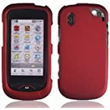 Rubberized Red Hard Snap-on Protector Case Cover For For Verizon Pantech 8992 Hotshot