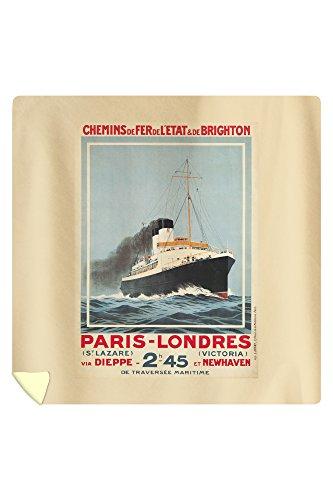 Paris - Londres - Versailles Vintage Poster (Artist: Hook, Sandy) France c. 1920 64590 (88x88 Queen Microfiber Duvet ()