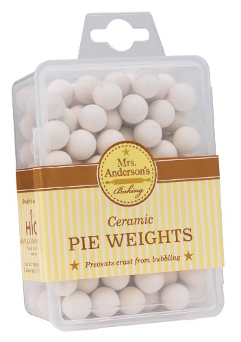 Plastic Metallic Ball Chain - Mrs. Anderson's Baking Ceramic Pie Crust Weights, Natural Ceramic Stoneware