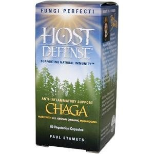 Fungi Perfecti Host Defense Chaga Capsules, 60 Count,