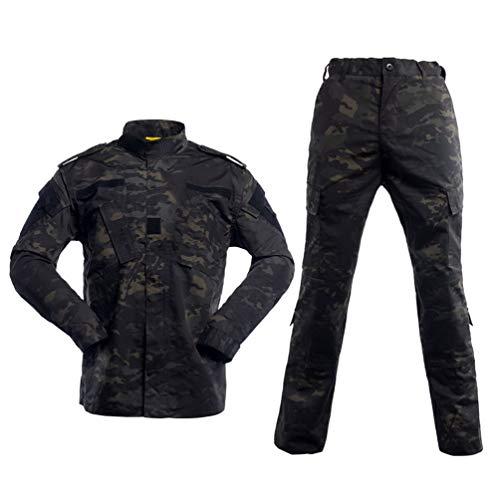 HAOYK Airsoft Paintball Combinaisons Tactiques Hommes Chasse Combat BDU Uniforme Veste Camo Chemise et Pantalon avec… 3