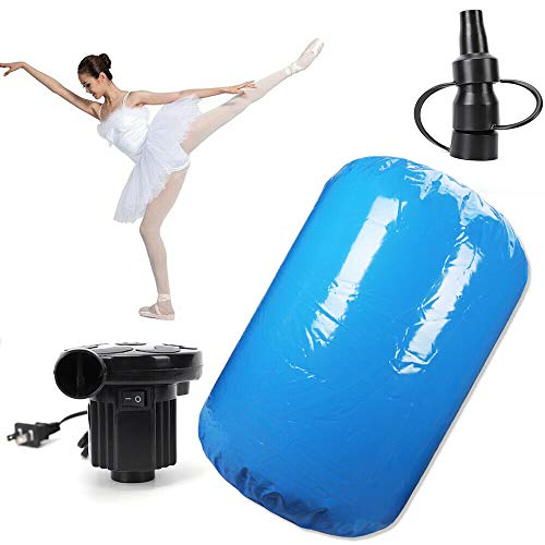 RANZHIX Gymnastics Mat 120x90CM Inflatable Gymnastics Air Track Tumbling Mat 10 PSI Inflatable Air Roller Balance Training Roller Cylinder W/Pump for Gymnastics Training Gym Yoga