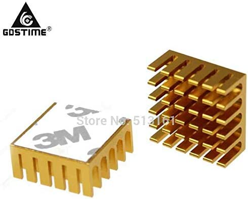 10pcs Gdstime 22x22x10mm Aluminum Computer VGA PC CPU Chipset Memory Cooling Radiator