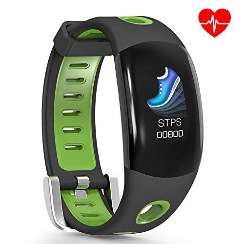 ROADTEC Fitness Tracker with Heart Rate Monitor for Men Women, IP67 Waterproof Activity Tracker Smart Wristband 3D Screen Pedometer Sleep Tracker Sedentary Alert Call Reminder (Green)