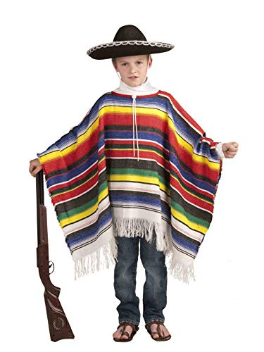 Forum Novelties Mexican Poncho Costume, One