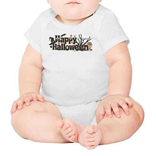 lsawdas Happy Halloween Logo Unisex Baby Cotton Short