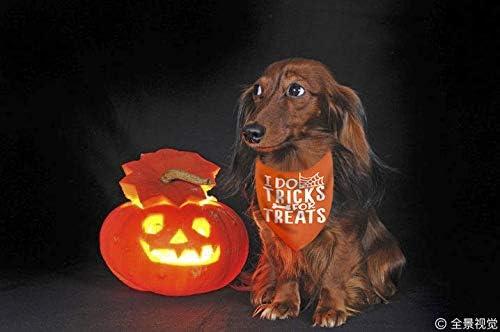 Pawskido Dog Halloween Bandana,Pack of 3 Halloween Bandanas for Dogs
