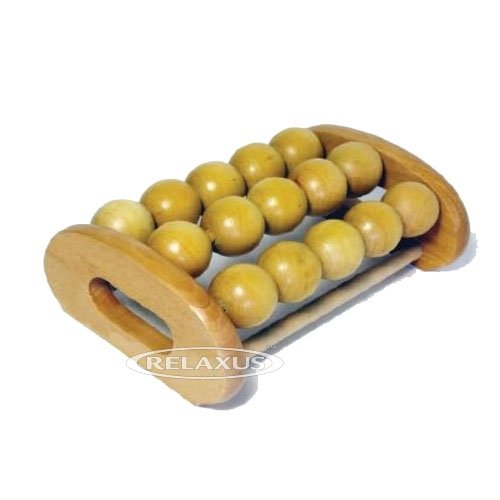 Wooden Body Roller - Foot and Body Wooden Acu Point Pain Relief and Pressure Massager Roller