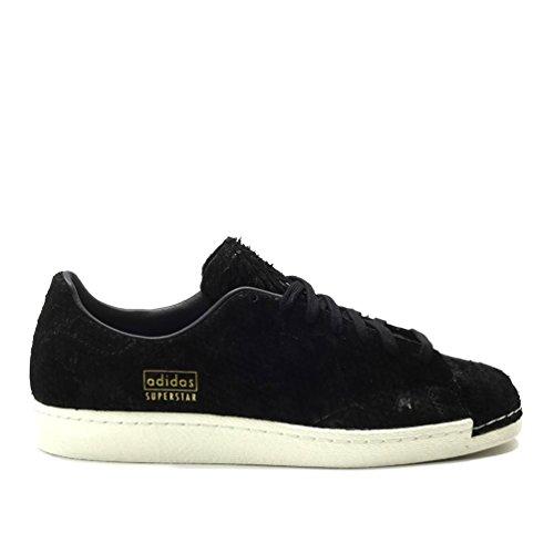 Adidas Superstar 80s Rena Mens I Svart / Svart, 12