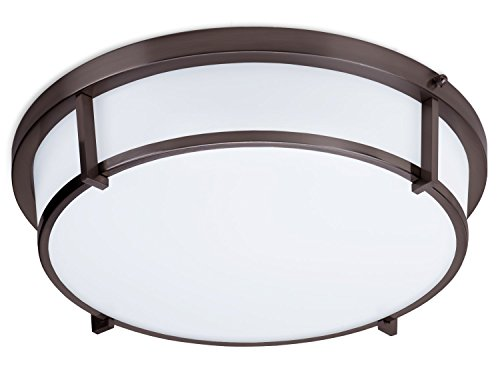 (LB72113 LED Flush Mount Ceiling Light, Oil Rubbed Bronze 17-Inch 4000K, Dimmable, 1600 Lumens, LED Saturn Flush Mount ETL, Energy Star)