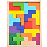 GYBBER&MUMU Colorful Wooden Tangram Jigsaw Puzzle Toy 21 Pieces