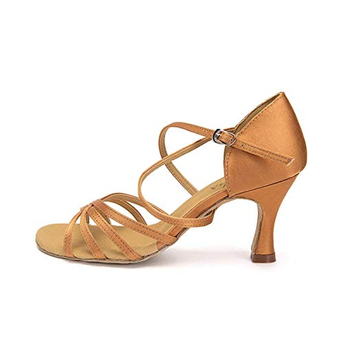 Sandales tango Danse De Salsa Pour chacha moderne 5cm uk6Eu39 HautsBeigeheeled7 Brownheeled7 Chaussures Jazz Our40 samba Talons Latine chaussures 5cm Femme 6vYfy7bg