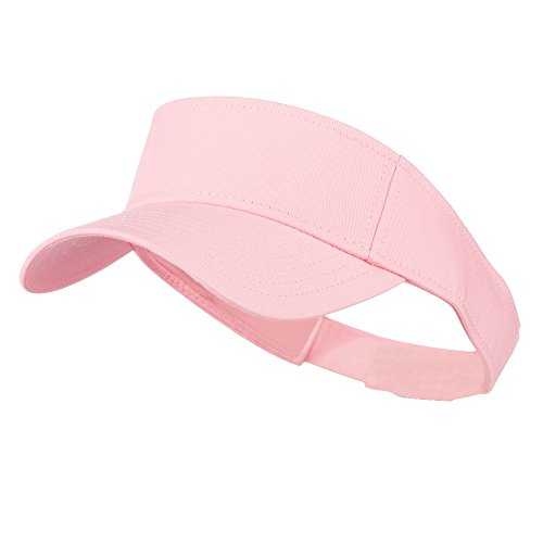 Pink Kids Visor - Youth Cotton Sun Visor - Pink OSFM