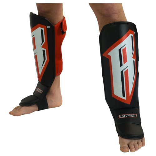 Revgear Grappling Back Open Shin Guard with Straps