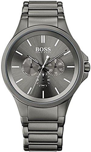 Hugo Boss Men's Boss Black Gray Ion-Plated Stainless Steel Bracelet Watch 47mm 1513173