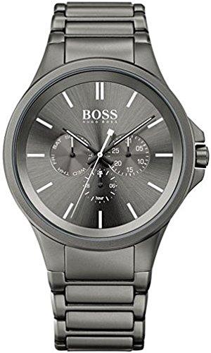 Hugo Boss Men's Boss Black Gray Ion-Plated Stainless Steel Bracelet Watch 47mm 1513173