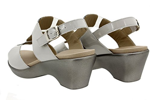 Charol Confort Plantilla Sandalia Charol Zapato 180865 Extraíble Perla PieSanto Perla xAw04qT8w