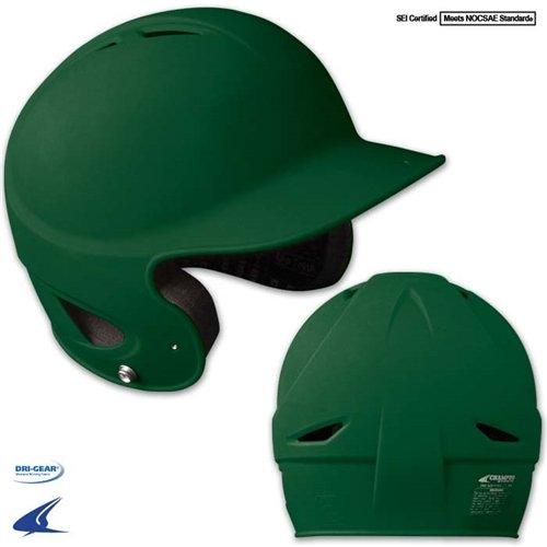 Champro Rubberized Matte Finish Performance Batting Helmet, Forest Green, 6 1/2