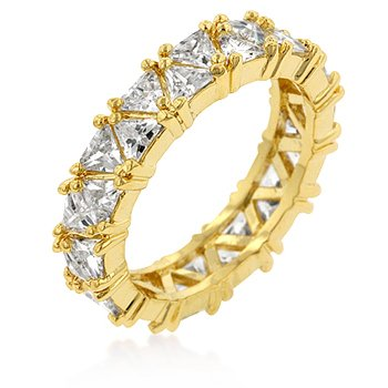 J Goodin Golden Trillion Eternity Ring Size 8 from JGOODIN