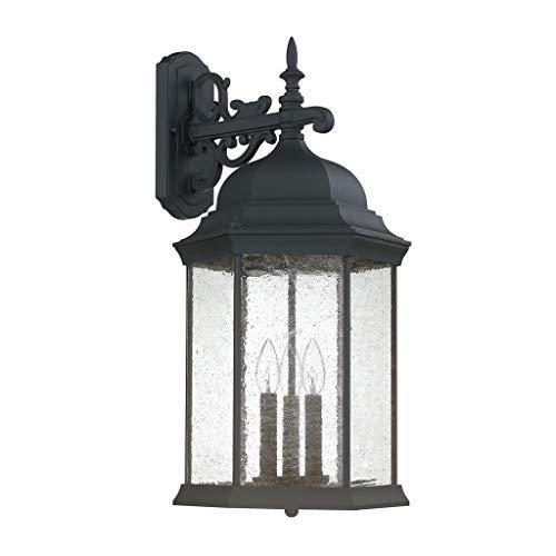 Capital Lighting 9838BK Three Light Outdoor Wall Lantern (Capital Lighting Main Street)