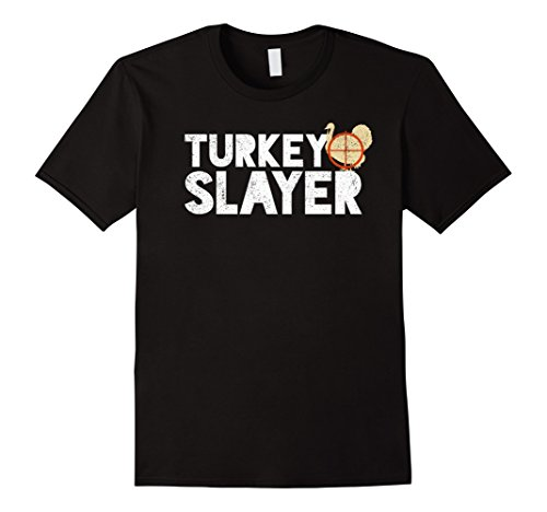 Mens Turkey Slayer Funny Bird Hunting Humor T-Shirt Large Black (Turkey Hunting T-shirt)