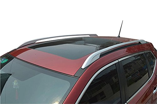 u-Box Top Roof Rack Side Rail Luggage Carrier Bars For 2014-2018 Nissan Rogue X-trail