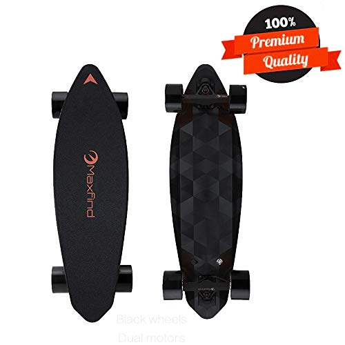 Maxfind Electric Skateboard,Max Range 16 Miles,Top Speed 23 MPH,Dual Motor 1000W,Update Remote Controller,4th Generation (Max2)