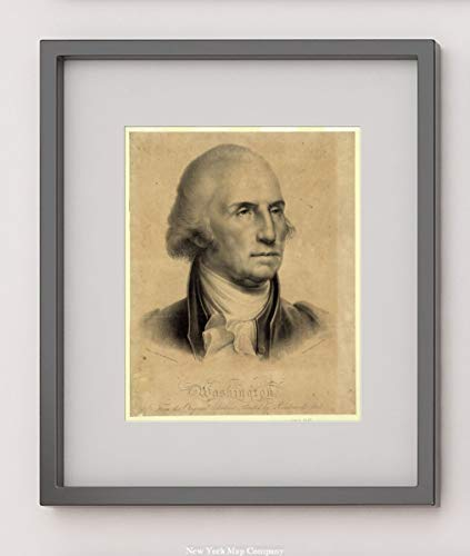 1827 Photo Washington. From the original portrait painted by Rembrandt Peale / Drawn on stone by Rembrandt Peale ; Litho of Pendleton, 9 Wall St. Print shows bust portrait of ()