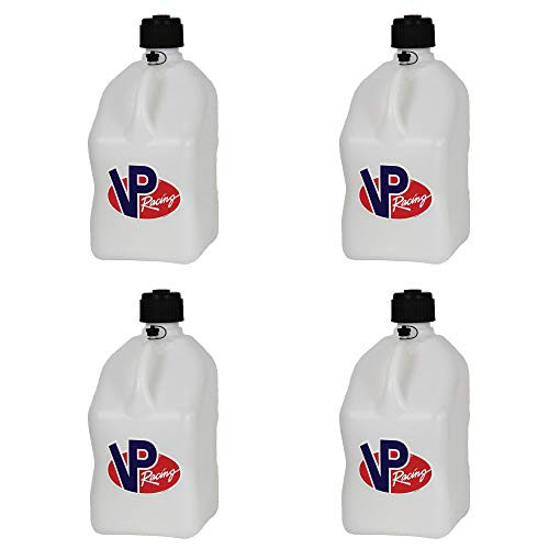 4 Pack VP 5 Gallon Square White Racing Utility Jugs 5 Gallon Utility Jug