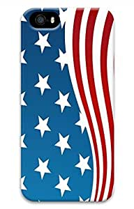 Flag Of The United States Customized Popular DIY Hard Back Case Cover For iPhone 5S 3D