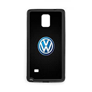Volkswagen Logo Car3 Samsung Galaxy Note 4 Cell Phone Case Black yyfabc_945787
